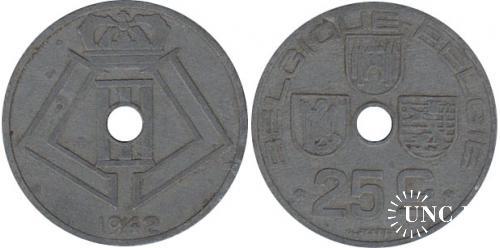 25 сантим Ø26,0 мм. Zn, 6,5 г.