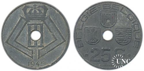 25 сантим Ø26,0 мм. Zn, 6,50 г.