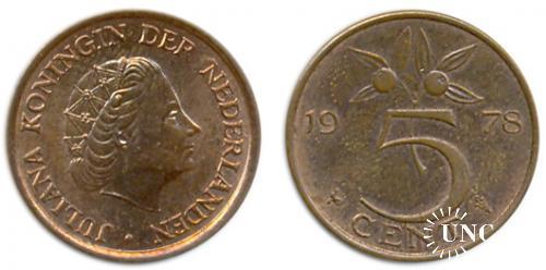 5 центів Ø21,0 мм. Bronze, 3,50 г.