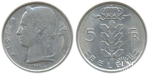 5 франков Ø24,0 мм. Cu-Ni, 6,00 г.