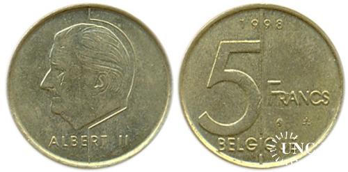 5 франков Ø24,0 мм. Cu-Ni-Al, 5,50 г.