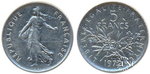 5 франков Ø29,0 мм. Cu-Ni, 10,00 г.