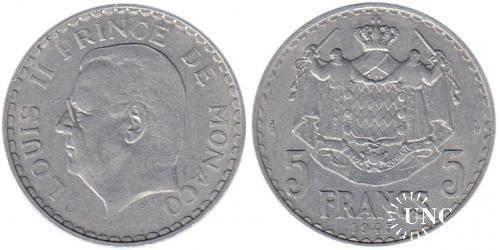 5 франков Ø31,5 мм. Al, 3,50 г.