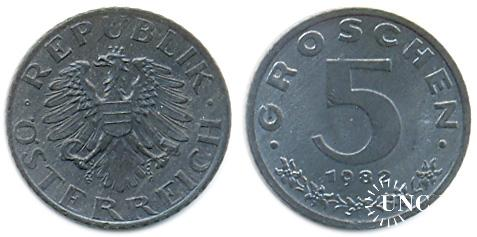 5 грошенів Ø19 мм. Zn, 2,50 г.