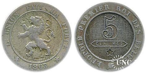 5 сантим BELGES Ø19,0 мм. Cu-Ni, 3,0 г.