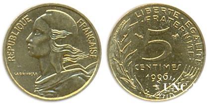 5 сантим Ø17,0 мм. Al-Bronze, 2,00 г.