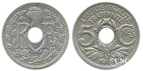 5 сантим Ø19,0 мм. Cu-Ni, 3,0 г.