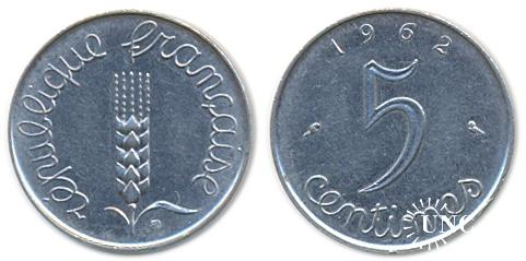 5 сантим Ø19,0 мм. Fe(Chrome), 3,40 г.