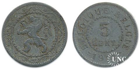 5 сантим Ø19,0 мм. Zn, 2,50 г.