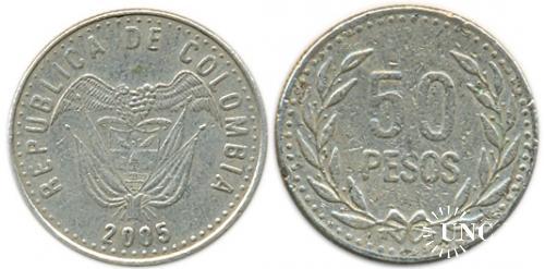 50 песо Ø21,8 мм. Cu-Ni-Zn, 4,5 г.