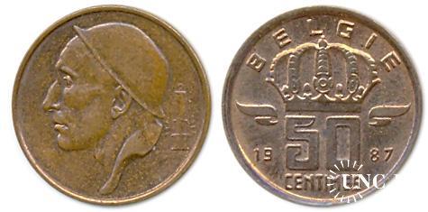 50 сантим Ø19,0 мм. Cu, 2,75 г.
