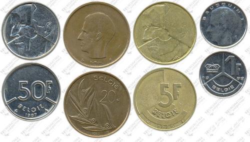 Підборка монет: 50, 20, 5, 1 франк