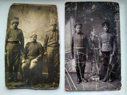 2шт.Фото военных до 17 г.