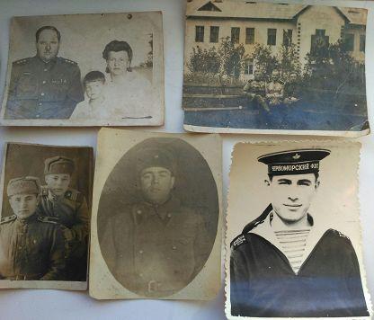 5шт.фото с военными подписаны45-63 г.