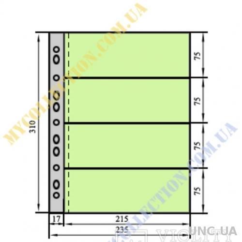 Лист для бон А-4 , 310х235мм, 80 микрон (10 шт.)