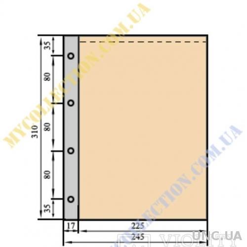 Лист для бон формату Гранд(А-4) , 310х235мм,(10 шт.)