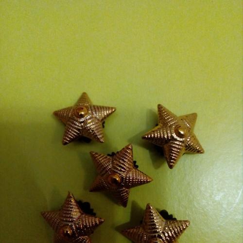 Звезды старшего офицерского состава, пластмассовые, Украина.