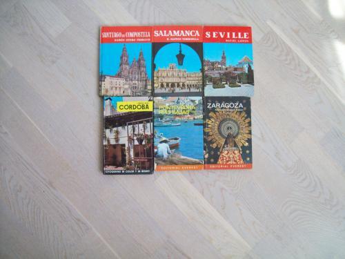 Путеводители по 6 городам Испании - 6 книг.  На испанском языке