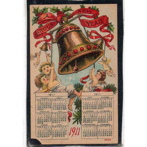 СТАРИННЫЙ КАЛЕНДАРЬ НА 1911 ГОД