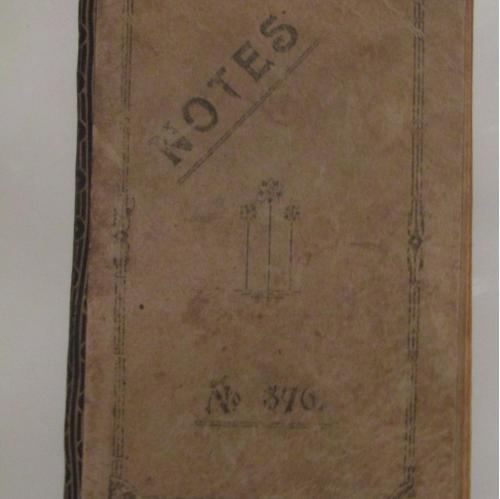 Блокнот главного инженера Николаевского Морского порта о всех проводимых работах в 1922-23 годах