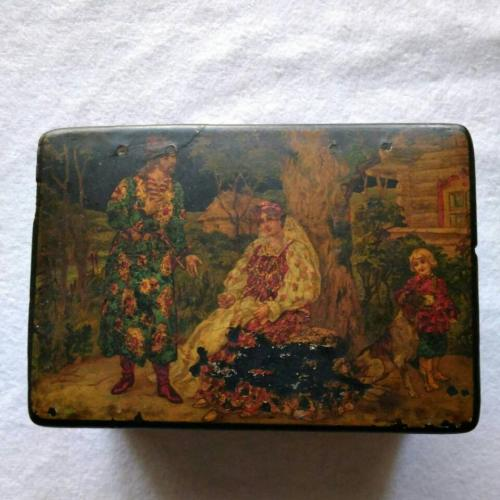 Чайная коробка, шкатулка 19 век
