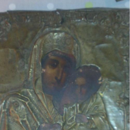 Икона Казанской Божьей Матери в окладе