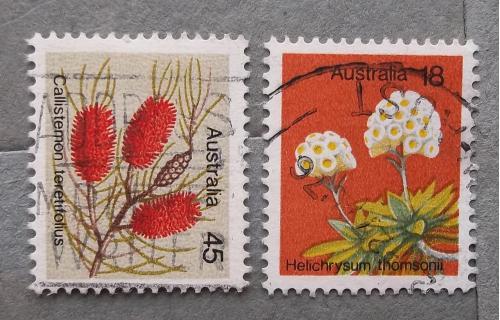Австралия 1975 г - растения, 4 шт (см.фото)