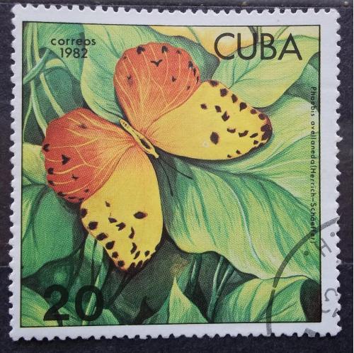 Куба 1982 г - бабочка Фебиc Авелланеда