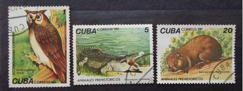 Куба 1982 г - Доисторические животные