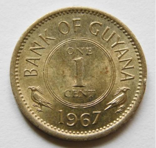 Гайана 1 цент 1967
