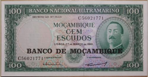 Мозамбик 100 Escudos 1961