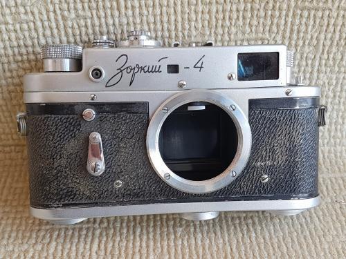 Фотоаппарат Зоркий-4 №6560480, без объектива