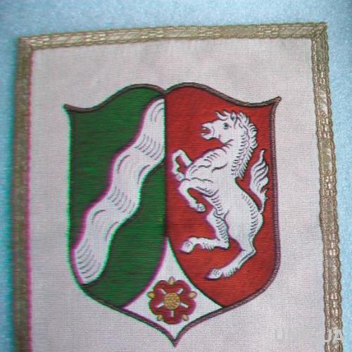 Герб на ткани NORDRHEIN-WESTFALEN. Германия.