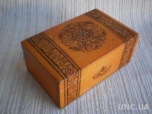 Шкатулка деревянная, 16х10х6,5см