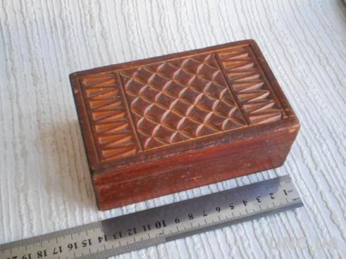 Шкатулка деревянная, резьба, 14х8,5х5,5см