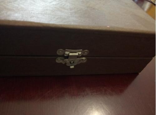"""Ложки чайные.Подарочный набор из 6 предметов чайных ложек""""позолота""""в футляре СССР."""