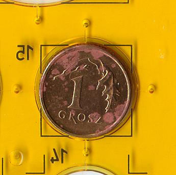 2 (две) обиходные монеты 1992, 2006 годов номиналом 1 грош Республики Польша.