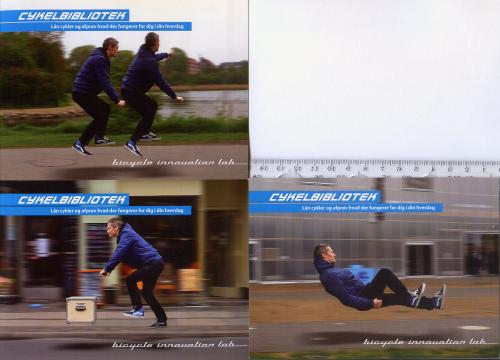 3 датские промо-открытки 2013 года Bicycle Innovation Lab.