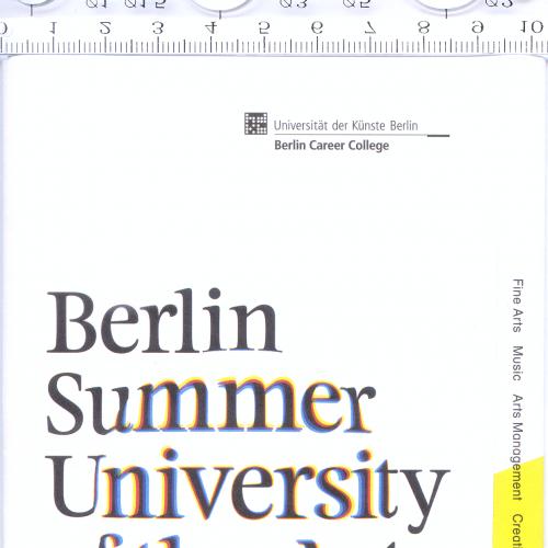 Буклет-плакат Берлинского летнего университета искусств 2014 года.