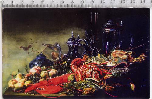 Художественная открытка прибл. 2006-2007 гг. работы Олеси Зайвои «Голландский натюрморт».