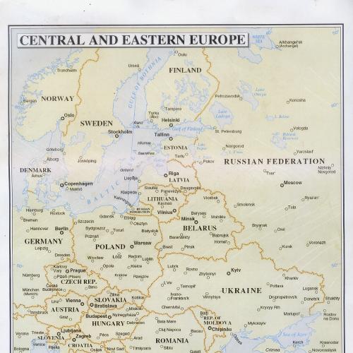 Карта 2007г. №3877 Rev.6 «Центральная и Восточная Европа» Департамента миротворческих операций ООН.