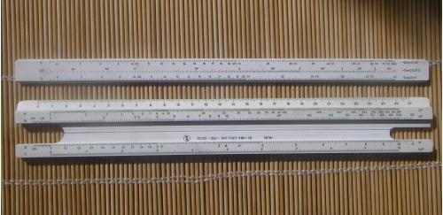 Логарифмическая пластмассовая линейка 27 см ЛСЛО-250-10П ГОСТ 5161-72 1978г.