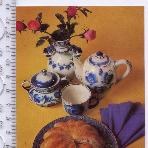 Открытка «Бабка с творогом» 1985 года изд-ва «Планета» с фото А.Гидиримского.