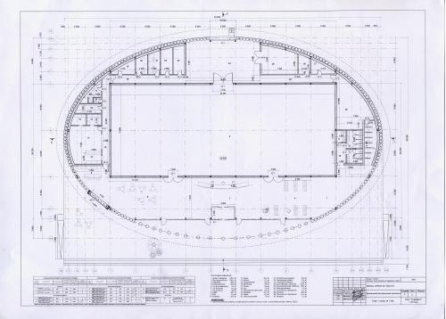 План 1-го этажа временного выставочного павильона в ЦПКиО им.Горького, 2012г, ксерокопия, А4.