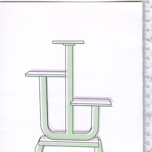 Пригласительный складной буклет выставочного проекта 2014 года «Kwietnik» на польском языке.