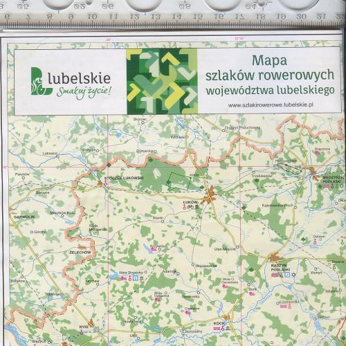 Раскладная карта велосипедных маршрутов Люблинского воеводства Респ.Польша за 2011г.