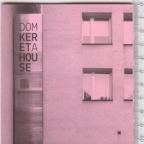 Раскладной буклет-путеводитель по структуре и худ. инсталляции «Дома» Keret House в Варшаве 2012 г.