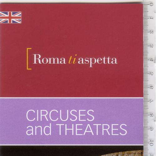 Раскладной буклет-путеводитель «Рим ждет вас: цирки и театры» 2014 г. на англ.языке.
