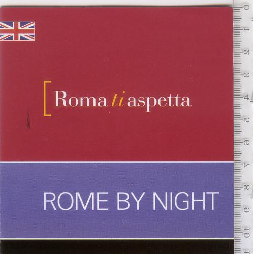 Раскладной буклет-путеводитель «Рим ждет вас: Рим ночью» 2014 г. на англ.языке.