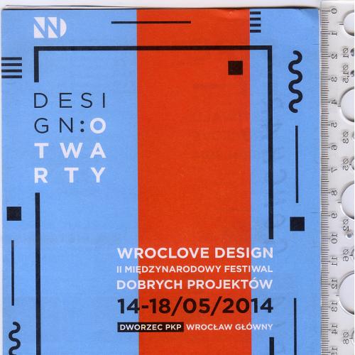 Раскладной буклет «Вроцлавский дизайн» 2014 года на польском языке с экслибрисом автора.
